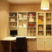 复式楼家常简约清新木质书柜