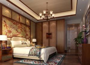 120㎡异域风情东南亚风格卧室背景墙设计装修效果图