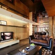 客厅背景墙置物架欣赏