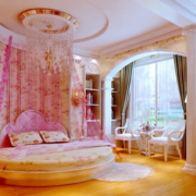 粉色田园唯美儿童房