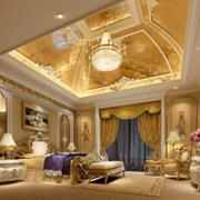 城堡式别墅豪华卧室