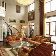 田园风格客厅窗帘设计