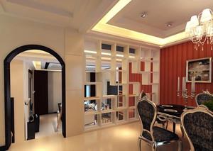 三居室欧式客厅博古架装修效果图