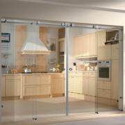 厨房玻璃隔断推拉门