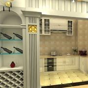 厨房隔断酒柜