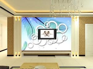 脑洞大开客厅3d电视背景墙装修效果图
