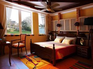 美式深色的卧室
