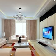 客厅精致电视背景墙