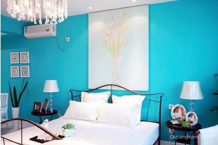 清爽地中海风格小卧室装修效果图