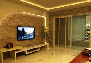 客厅复古典雅电视背景墙