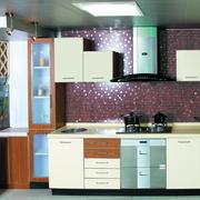 自然风格三室一厅厨房