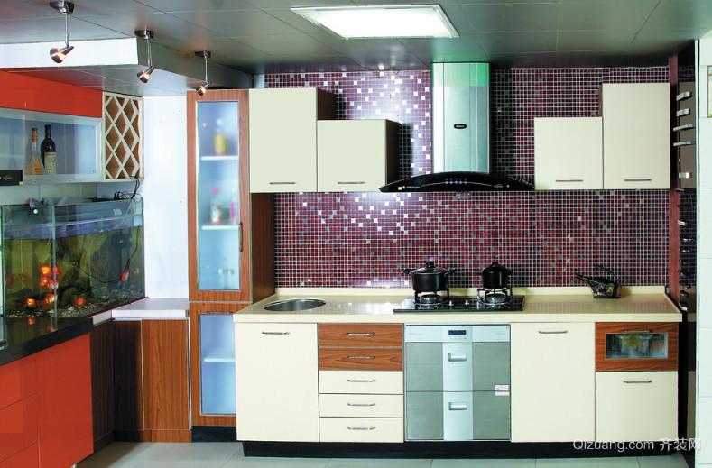 三室一厅厨房整体厨柜装修效果图