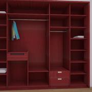 卧室红色精致衣柜