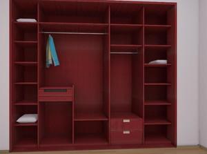 现代三居室整体卧室衣柜装修效果图