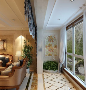 单身公寓家居阳台灯饰装修效果图