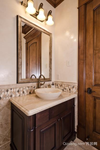 60平小户型卫生间大理石洗手盆装修效果图