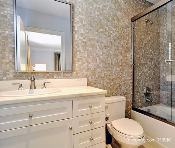 卫生间瓷砖背景墙装修效果图