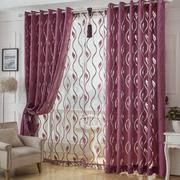 紫色浪漫窗帘