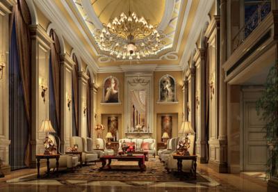 奢華歐式別墅客廳裝修圖