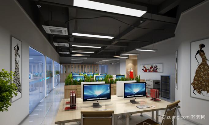 现代简约风格办公室室内装修效果图