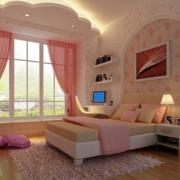 田园粉色的卧室