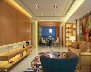 大户型欧式豪华客厅地板砖背景墙3d装修效果图