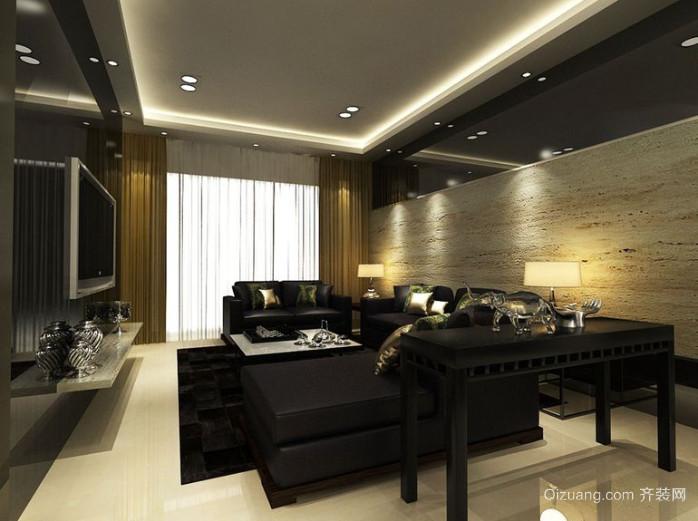 后现代风格108平米三室一厅客厅装修效果图