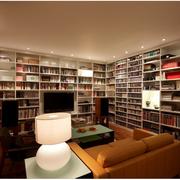 复式楼客厅大型书柜