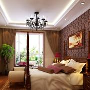 三居室美式卧室
