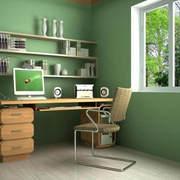 书房绿色墙面