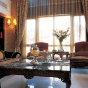 时尚风格客厅窗帘设计