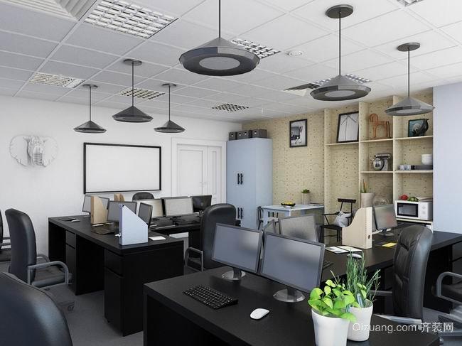 20平简约小型办公室创意装修效果图