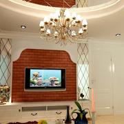 客厅文化砖电视背景墙