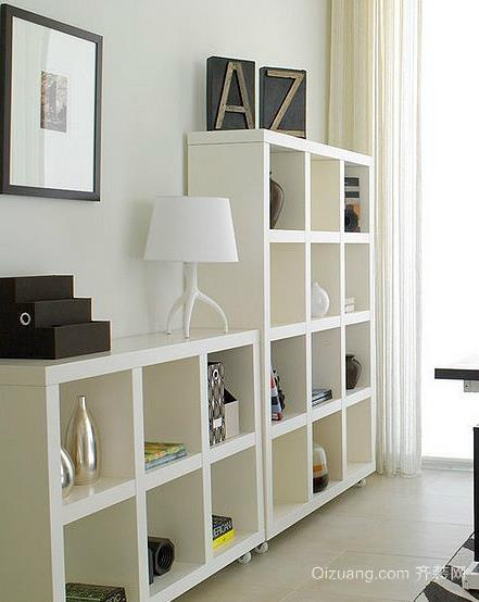 舒适惬意小书房书柜装修效果图
