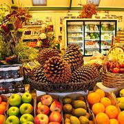 温馨色调水果店效果图