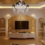 欧式风格印花电视背景墙装饰
