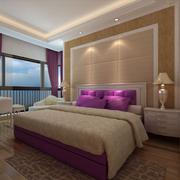 现代风格简约卧室背景墙装饰