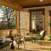 东南亚风格简约庭院木制护栏装饰
