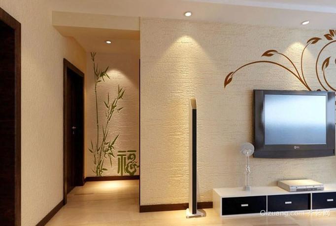 客厅环保硅藻泥电视背景墙装修效果图