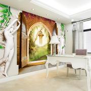 欧式奢华3D电视背景墙装饰
