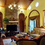 美式经典风格客厅布置