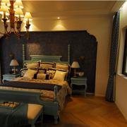 地中海风格卧室壁纸装饰