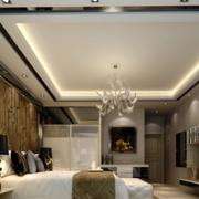 灰色调卧室吊顶装修