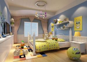 欧式简约风格儿童房飘窗装饰