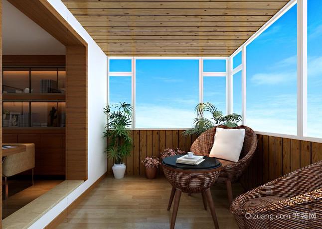 70平米现代简约风格斜楼楼顶露台装修效果图