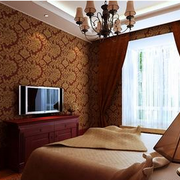 欧式经典风格印花卧室壁纸装饰