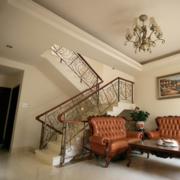 美式简约风格楼梯装饰