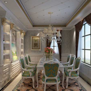 法式风格简约餐厅飘窗装饰