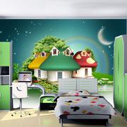 童话色彩卧室背景墙