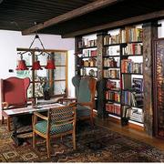 混搭风格书房书柜装饰